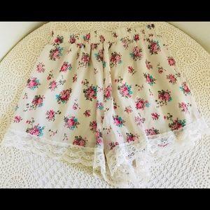 Lush soft flowy shorts